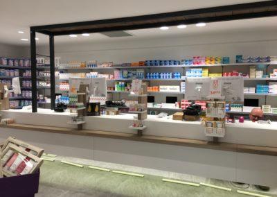 comptoir pour une pharmacie
