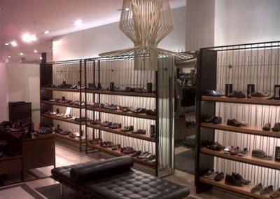 Agencement d'un magasin de chaussures