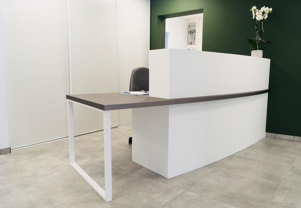 bureau et accueil pour un cabinet d'orthodontie