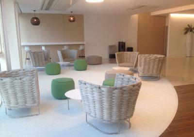Espace détente dans un centre d'affaires de Paris