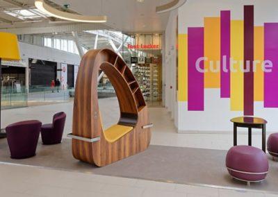 Mobilier sur-mesure galerie commerciale
