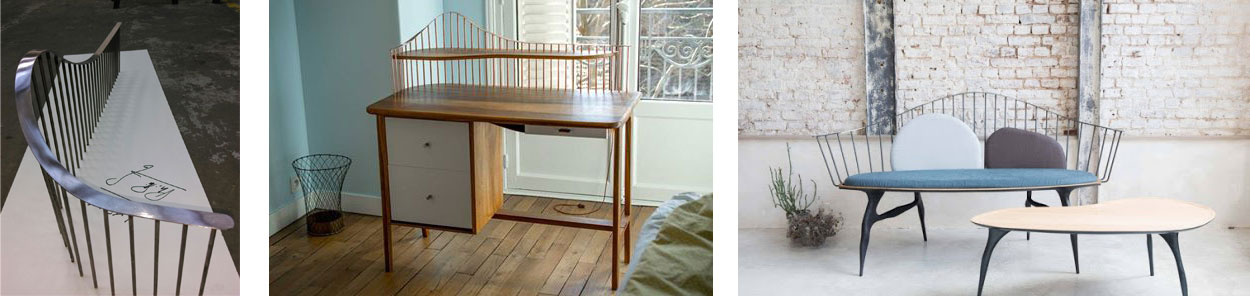 mobilier en bois et métal sur-mesure