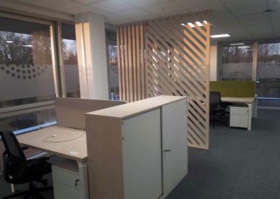 Mobilier et claustras pour des bureaux