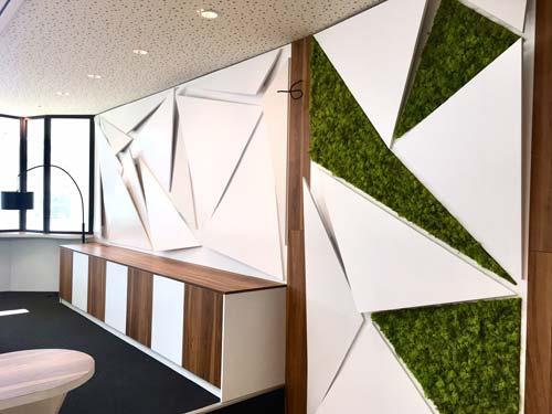 un mur acoustique avec du végétal