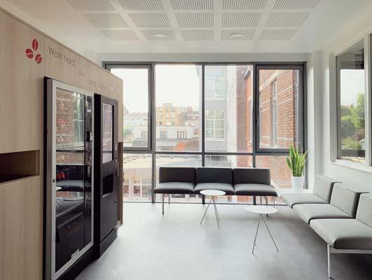 un espace convivial pour la pause café