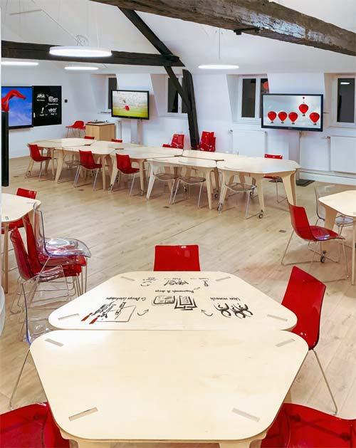 salle de réunion au service de la créativité et de l'émergence d'idées